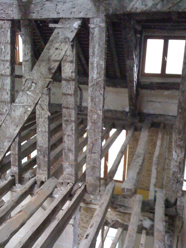 Phase de chantier après curage, rue Dupetit Thouars, Philippe Roux Architecte, 2009