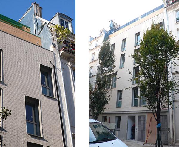 Démolition et reconstruction d'un immeuble de 9 logements, Cité Joly à Paris 11e