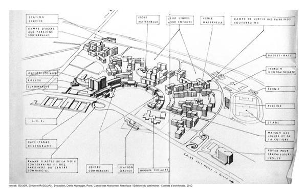 Extrait : TEXIER, Simon et RADOUAN, Sébastien, Denis Honegger, Paris, Centre des Monument historique / Editions du patrimoine / Carnets d'architectes, 2010