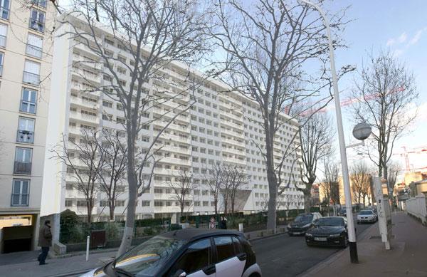Projet de l'immeuble, vue de la rue Maurice Arnoux