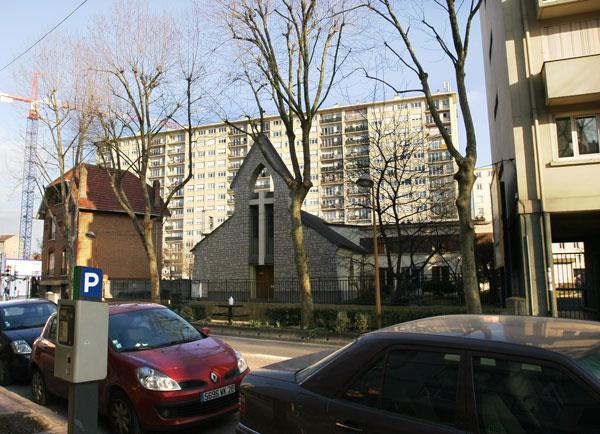 Immeuble avant travaux, vue de la rue Maurice Arnoux, vue ville