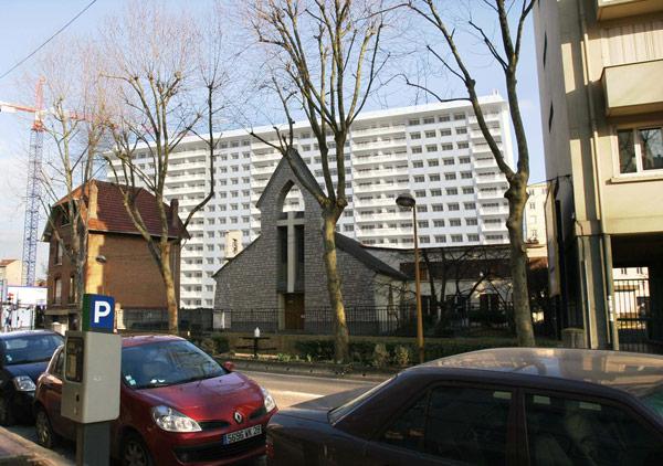 Projet de l'immeuble, vue ville