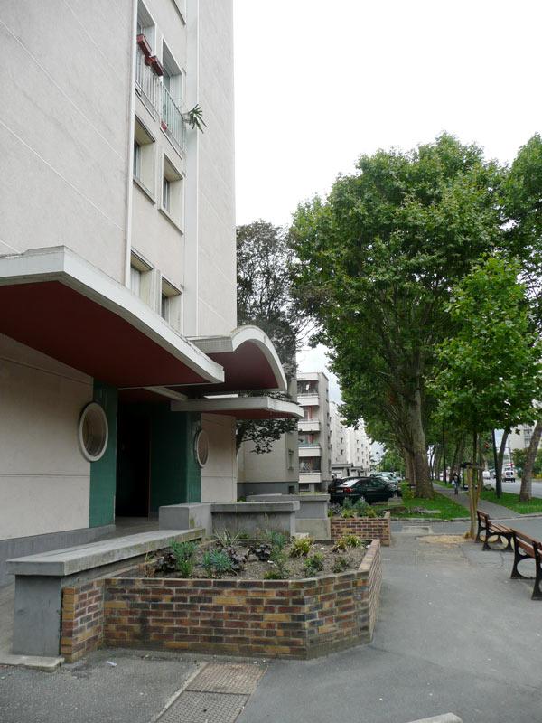 Cité Colonel Fabien, construits en 1955 par André Lurçat à Saint-Denis